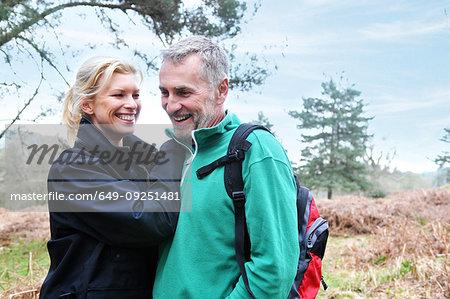 Couple in forest, Tunbridge Wells, Kent, United Kingdom