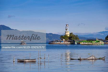 Lighthouse, Parapat, Lake Toba, Samosir Island, Sumatra, Indonesia, Southeast Asia, Asia