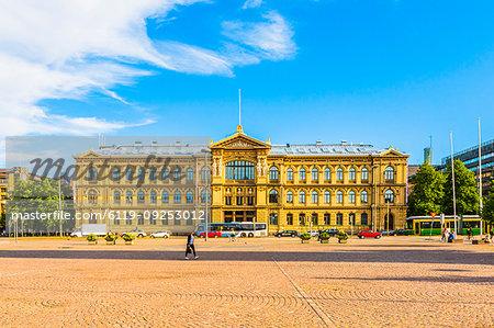 Building on Senate Square in Helsinki, Finland, Europe
