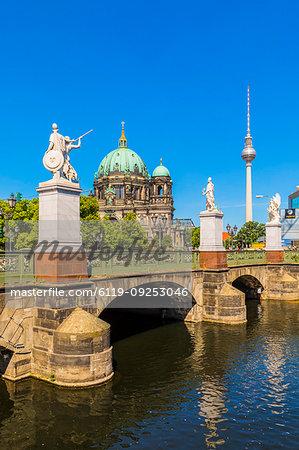 Schlossbrucke bridge by Berlin Cathedral in Berlin, Germany, Europe