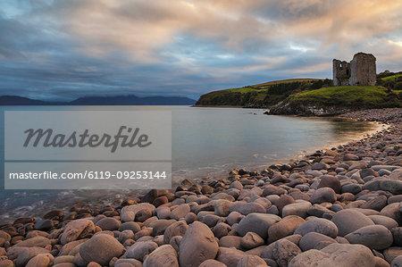 Minard Castle, County Kerry, Munster, Republic of Ireland, Europe