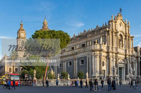 The Catania Cathedral, Catania, Sicily, Italy, Europe