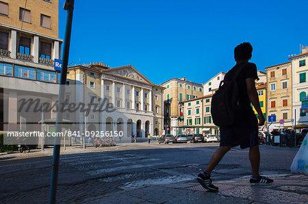 Piazza della Repubblica, Teatro delle Muse, Ancona, Marche, Italy, Europe