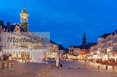 Grand Place, Mons, Wallonia, Belgium, Europe