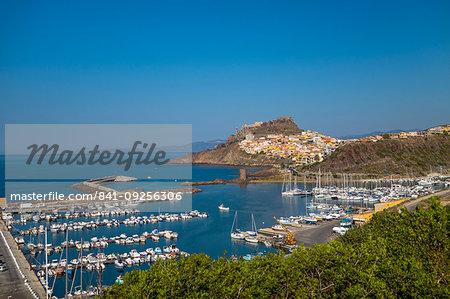 The harbour of Castelsardo, Sardinia, Italy, Europe
