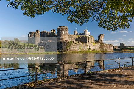 Caerphilly Castle, Cardiff, Wales, United Kingdom, Europe