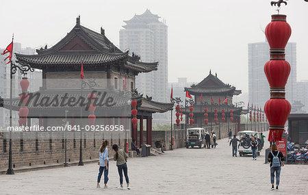 Xi'an City Wall, Shaanxi Province, China, Asia