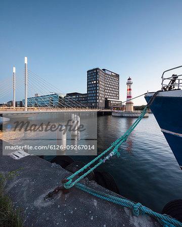 Bridge over river in Malmo, Sweden