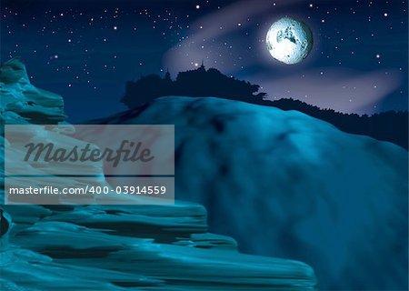 Pitch-dark - Highly detailed cartoon background 46 - illustration