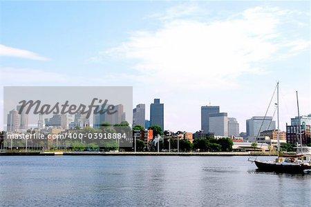 Boston skyline on summer day