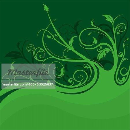 Floral background 08 - Highly detailed vector background illustration