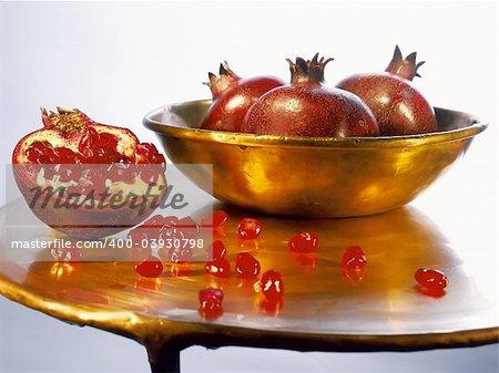 Juicy ripe pomegranates