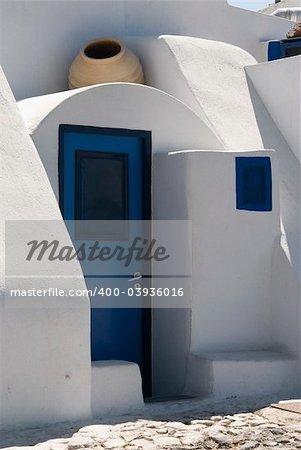 Typical greek architecture in Santorini