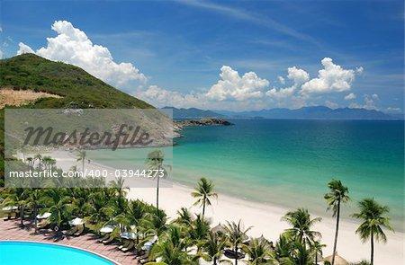 Beach Scene, Pacific ocean, Vietnam