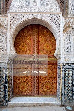 Moroccan entrance, door way, entry, exit, pattern