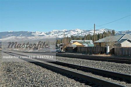 Railroad tracks, Truckee, California
