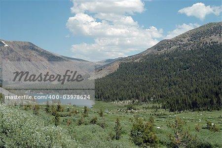 High mountain lake outside Yosemite National Park, California