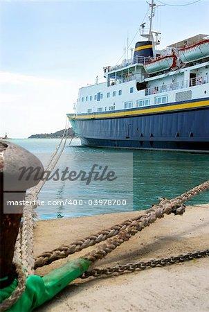 The port of Zakynthos, Greece