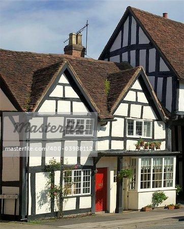 the high street henley in arden village warwickshire england uk