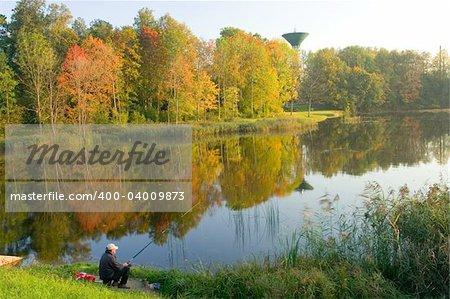 Beautiful autumn landscape from Baltic states - Latvia