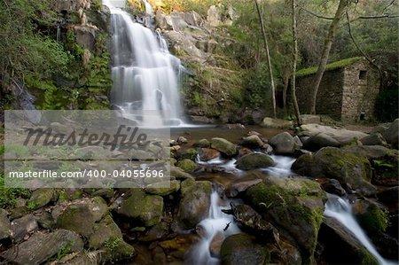 Beautiful waterfall. Long exposure, smooth effect.