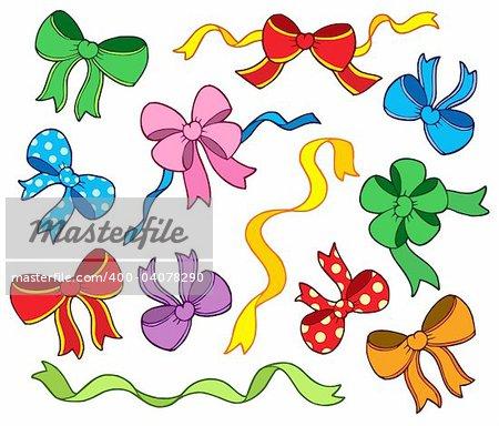 Ribbon collection - vector illustration.
