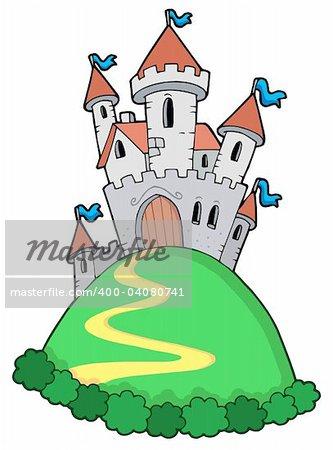 Fairy tale castle - vector illustration.