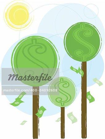 Money growing on trees - more money vectors in porfolio
