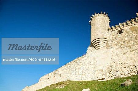 ancient public castle of cuellar city in segovia spain