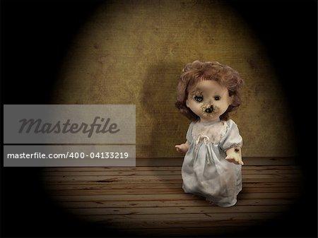 Dark series - vintage evil spooky doll
