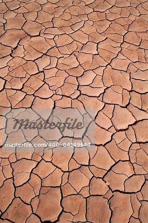 Dried ground texture
