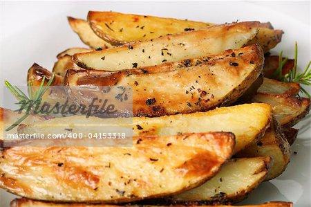 roasted rosemary garlic potato wedges