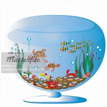 Aquariumwith sea animals.