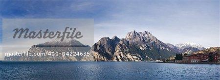 Garda lake in the morning, Italy