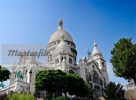 The Famous church of Sacre-Coeur, Montmartre, Paris