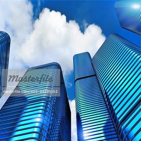 skyscraper - 3d rendering