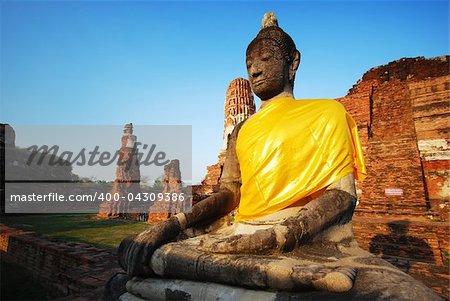 The buddha in Ayutthaya Thailand