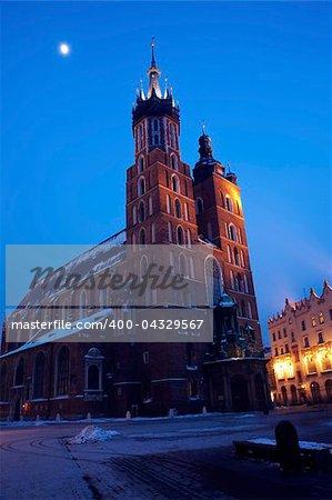St. Mary's Basilica in Krakow, Poland.