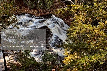 Northern Michigan UP Waterfalls Upper Peninsula Autumn Fall Colors