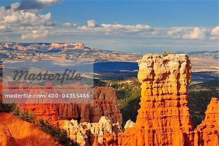 Hoodoo rock formation in Bryce Canyon national park, Utah