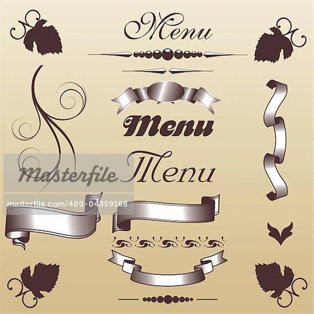 ancient menu elements