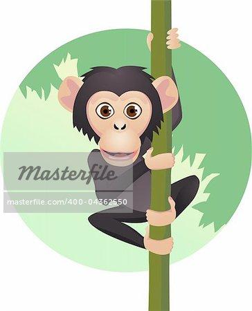 Chimpanzee cartoon
