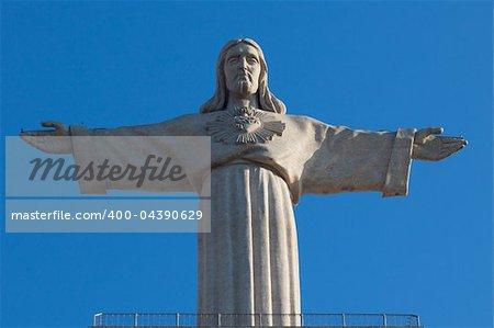"Jesus Christ monument ""Cristo-Rei"" in Lisbon, Portugal"