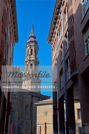 Our Lady Of The Pillar Basilica in Zaragoza, Spain