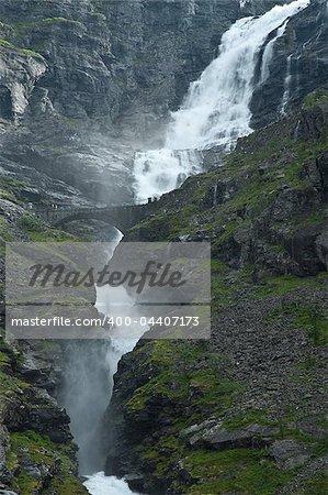 Great waterfall in Norway