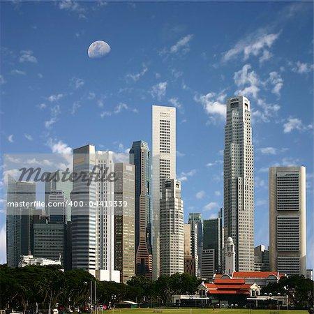 A View of Singapore City
