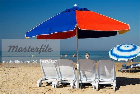 Beach umbrella. Summer scenic
