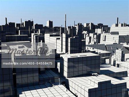 the city landscape (3D rendering)