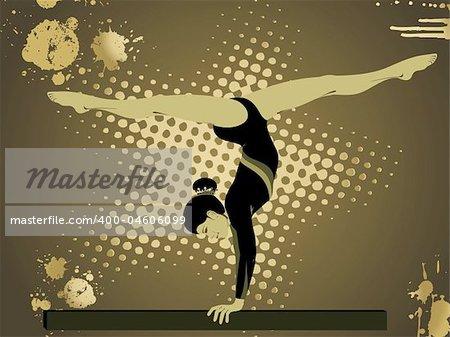 gymnastic silhouette illustration