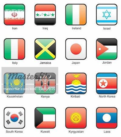 Iran, Iraq, Ireland, Israel, Italy, Jamaica, Japan, Jordan, Kazakhstan, Kenya, Kiribati, North Korea, South Korea, Kuwait, Kyrgyzstan, Laos
